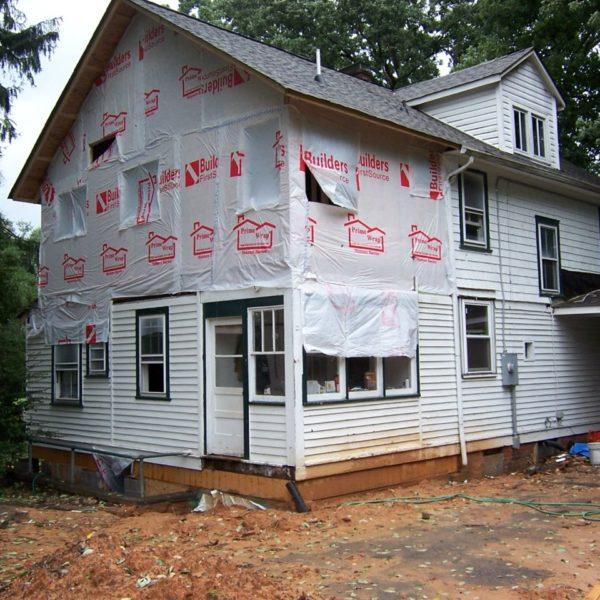 Construction of the master bedroom addition