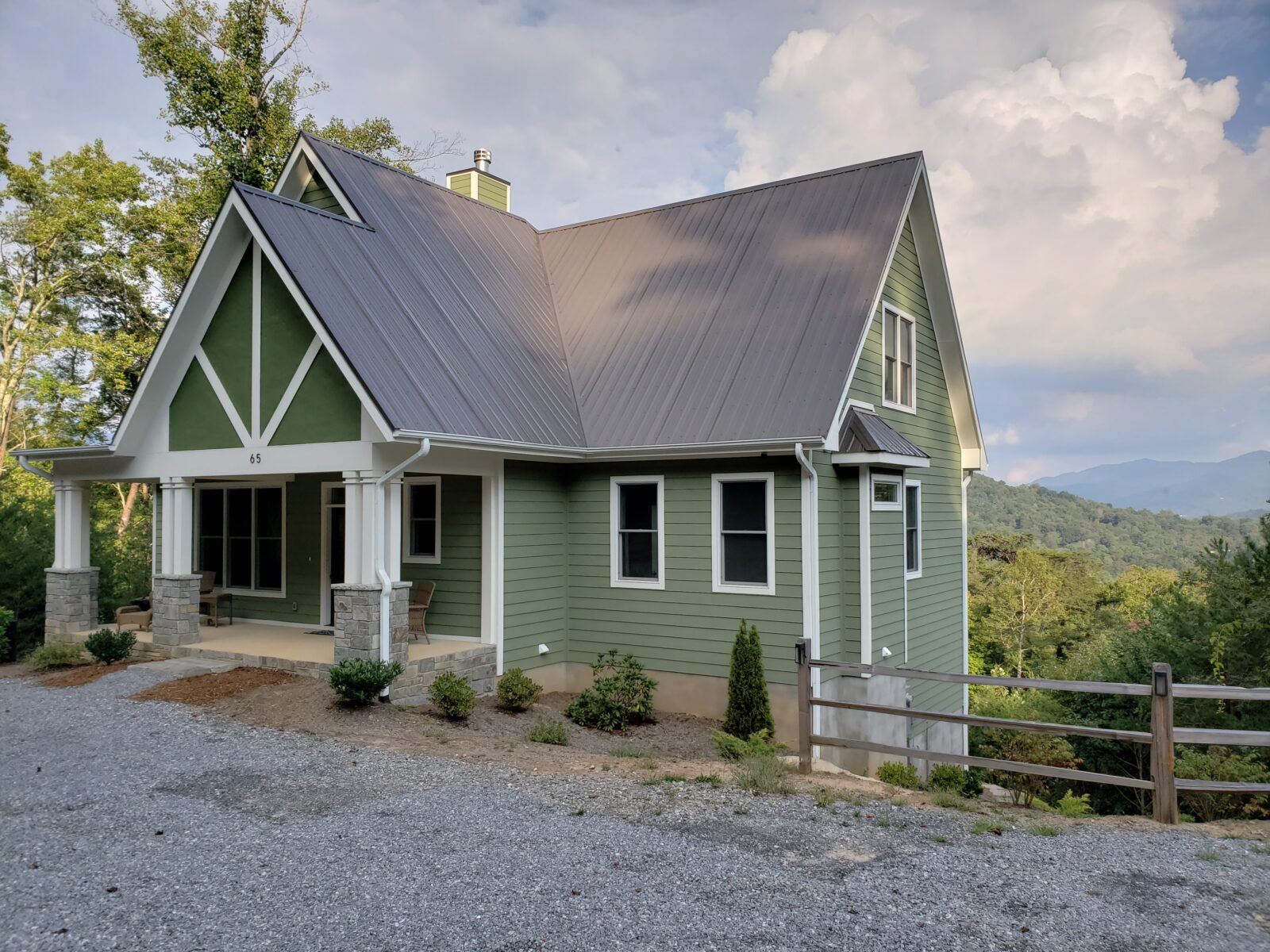 Exterior view of modern mountain home