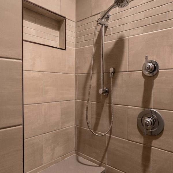 Modern tiled bathroom shower