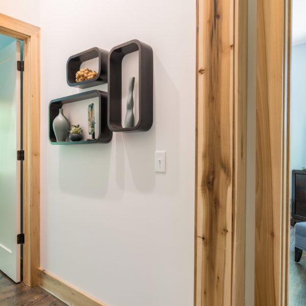 Hallway with sustainable wood trim